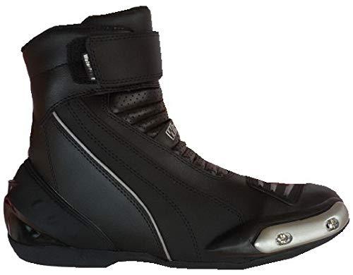 c760040cd7f1 WinNet Stivali stivaletti bassi scarpe modello Falco in pelle nera per moto  product image