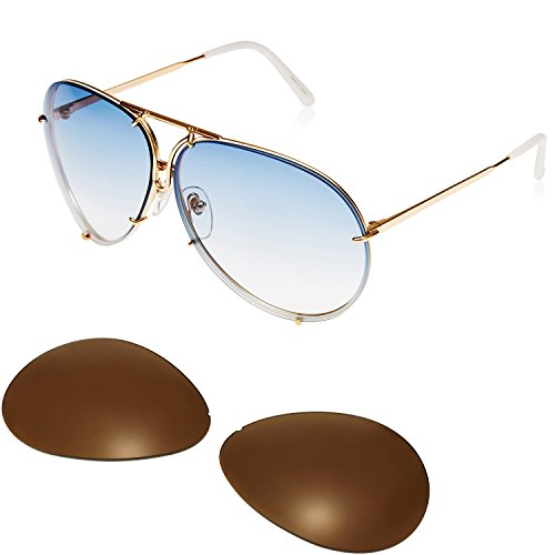 Designer Sunglasses for Men & Women Oversized Aviator, 3 Pairs Lens - Huge Aviator Sunglasses