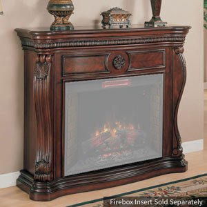 Traditional Gel Fuel Fireplace - Classic Flame 33WM881-C232 Lexington Wall Fireplace Mantel, Empire Cherry (Electric Fireplace sold separately)