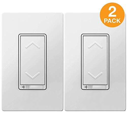 Separately Sold Plate - TOPGREENER Smart Wi-Fi Dimmer Switch, Dim Lighting from Anywhere, in-Wall, Single Pole or 3-Way (TGWF3K Sold Separately), No Hub Required, Compatible with Alexa and Google Assistant, TGWF500D 2 Pack