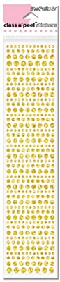 Stampendous Class A Peel Dot Sparkler Stickers-Gold