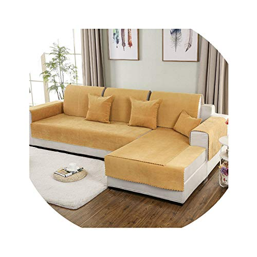 Simple Sofa Cover Set Combination Kit Cushion Pillowcase Waterproof On-Slip Sectional Sofa Cover for Living Room,12,70x70 cm