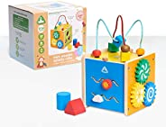 Early Learning Centre Mini Wooden Activity Cube, Amazon Exclusive, Multi-Color