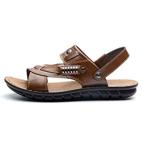 Stifai Leather Skidproof Lightweight Sandels Outdoor Men Sandals Black VHFPxp