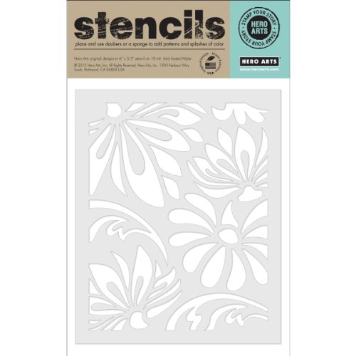 Hero Arts Lotus Pattern Stencil, Large
