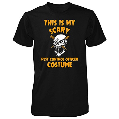 This Is My Scary Pest Control Officer Costume Halloween - Unisex Tshirt Black S -