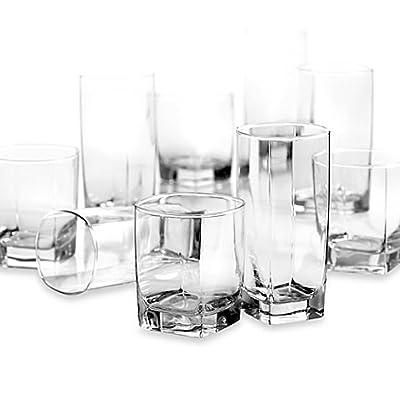 Dailyware City Glass 16-Piece Drinkware Set
