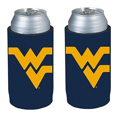 NCAA 2013 College Ultra Slim Beer Can Holder Koozie 2-Pack (West Virginia Mountaineers)