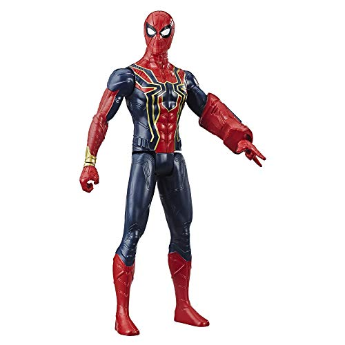 (Avengers Marvel Titan Hero Series Iron Spider 12-Inch-Scale Super Hero Action Figure with Titan Hero Power FX Port (Renewed))