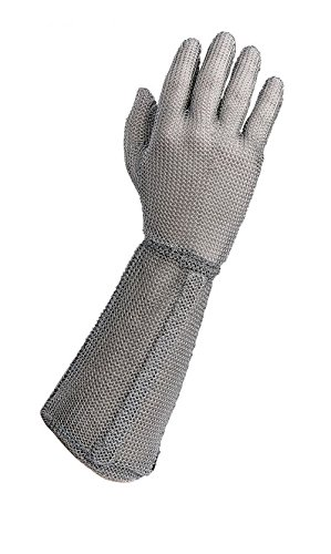 Wells Lamont Medium Silver Whizard Stainless Steel Ambidextrous Reversible Cut Resistant Gloves