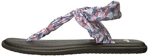 Ella Flop Grey Sling Palms Paradise Women's Sanuk Yoga Flip qESPTYtW
