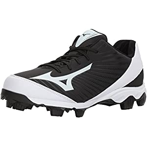 Mizuno (MIZD9) Men's 9-Spike Advanced Franchise 9 Molded Cleat-Low Baseball Shoe, Black/White, 7.5 D US