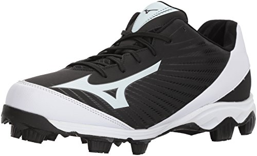 Mizuno  Men's 9-Spike Advanced Franchise 9 Molded Baseball Cleat-Low Shoe, Black/White, 7 D US
