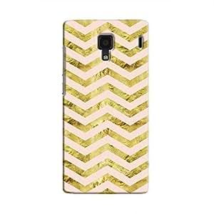Cover It Up - Gold Pink Tri Stripes Redmi 1s Hard case