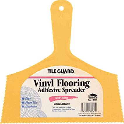 Homax Group 81 Wide Vinyl Floor Adhesive Spreader Notch, 3/32-Inch ...