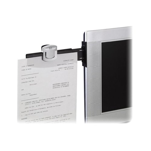3M DH240MB Monitor Mount Document Clip, 6-1/4