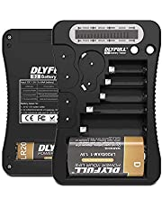 Dlyfull Universal Battery Tester with LCD Display, Multi Purpose Small Battery Checker for AA AAA C D 9V CR2032 CR123A CR2 CRV3 2CR5 CRP2 1.5V/3V Button Cell Batteries (Black)