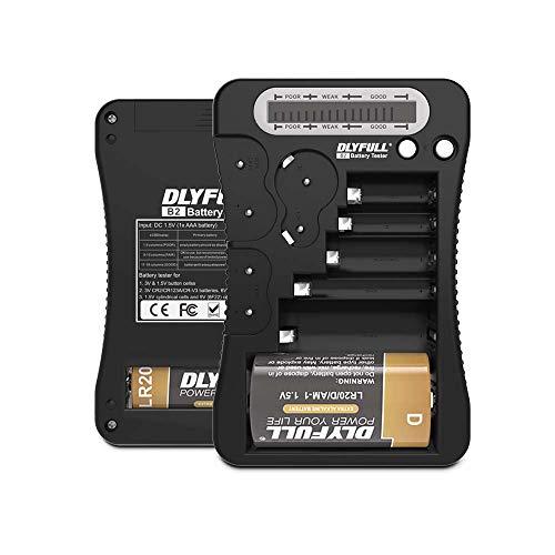 【Dlyfull B2 】ユニバーサルバッテリーテスターLCD表示、マルチ用途バッテリーチェッカーAA AAA C D 9 V cr123 a cr2 crv3 2 cr5 crp2 1.5 Vボタンセル電池