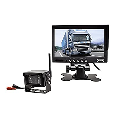 """Auto-Vox Digital Wireless Back-Up Camera System with 7"""" HD Rearview Monitor, Sony CCD Super Night Vision camera IP 68 Waterproof Rear view camera for Trucks"""