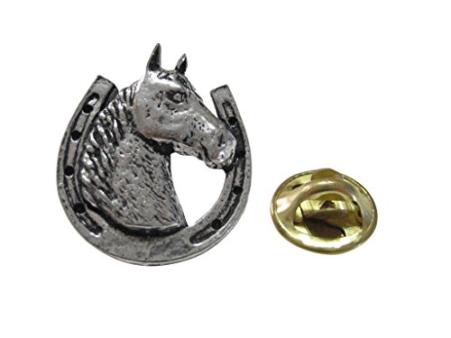 Horse and Horse Shoe Lapel Pin ()