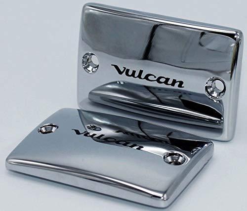 i5 Chrome Fluid Caps for Kawasaki Vulcan 1600 Classic Nomad Mean Streak 2003-2008.