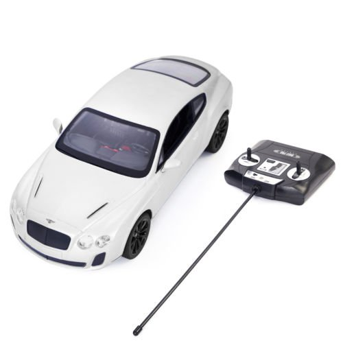1/14 Bentley Continental GT Supersports Radio Remote Control RC Car White New by Unbranded