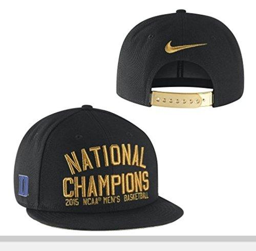 Duke Blue Devils Nike 2015 NCAA Men's Basketball National Champions Players Locker Room Snapback Adjustable Hat - Black