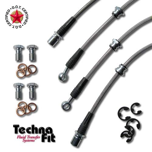 Techna-Fit Brake Line Kit Subaru 2004-2007 Impreza WRX STI 4 line brake kit - SUB-1075CL ()