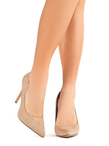 Suede J Heel Kiera Pumps Work Adams Pointed Slip On Classic High Pumps Closed Light Taupe Toe q4HpZwgqn