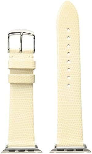 MICHELE MS38AB030105 38mm Apple Strap Leather Lizard Beige Watch Strap