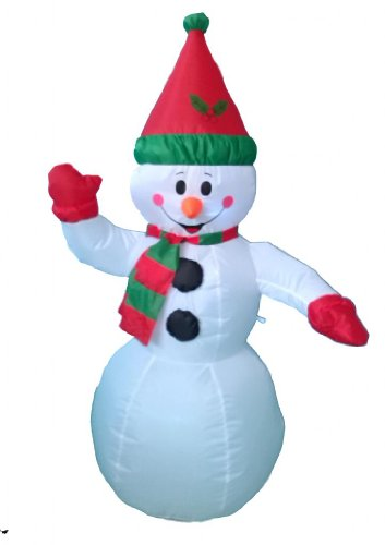 4 Foot Christmas Inflatable Snowman Yard Garden Decoration