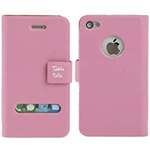 APM - Funda cuero extra fina rosa para iphone 4/4s