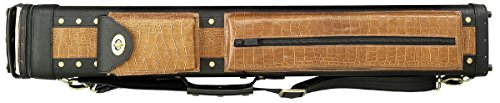 Southern Game Rooms 3X5 C35D-4 Hard Pool Cue Case Black w/Brown Crocodile Texture Accents