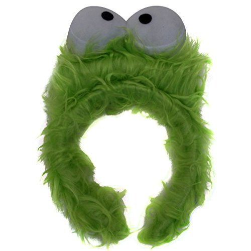 [Kids Green Monster Furry Costume Headband] (Alien Dress Up Ideas For Kids)