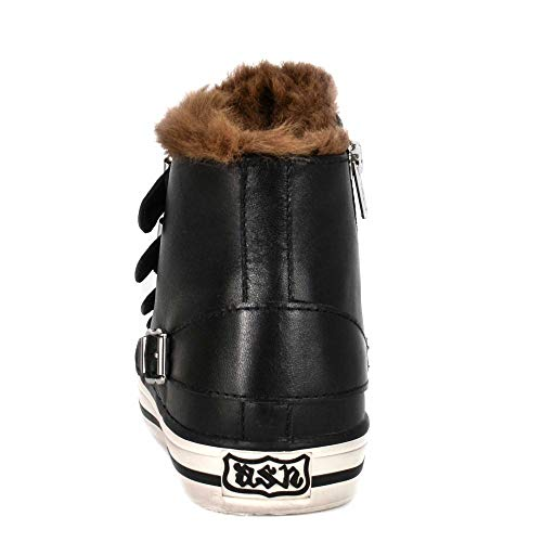 Brown 39 Footwear Leather Black And Valko Fur Nero Faux Ash Trainer azdqxXz