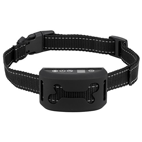 ibulors No Bark Collar [2017 Upgrade Version] Rechargeable Anti Bark Collar Training Collar Beep/Vibration / Safe Static Shock/Sensitivity Anti Bark Reflective Collar for Small Medium Large Dogs