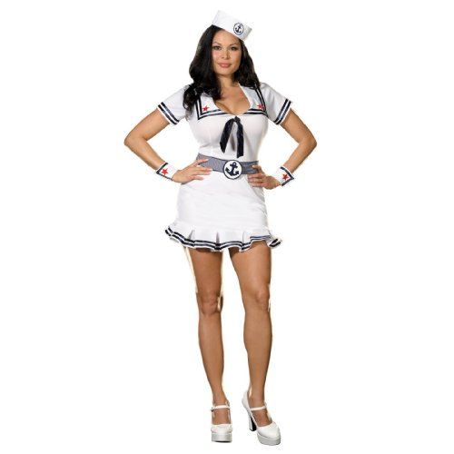 Cruise Cutie Costume - Plus Size 5 Piece Set Cruise Cutie Costume (1X-2X)