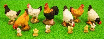 Streets Ahead 1:12 Scale Dolls House Miniatures 13 Assorted Chickens from Streets Ahead