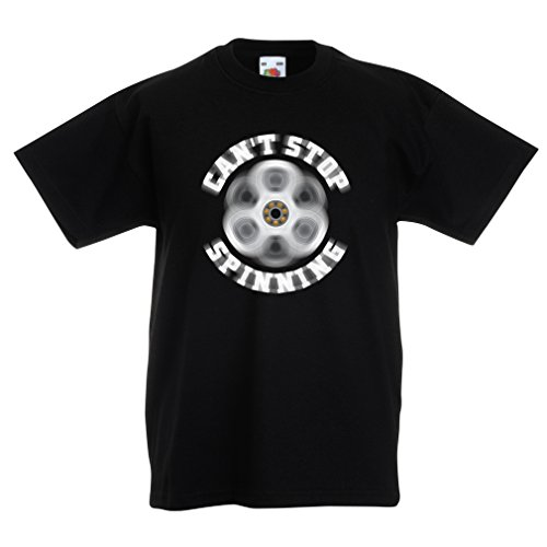 lepni.me T Shirts For Kids Can't Stop Spinning My Fidget Spinner (14-15 Years Black Multi Color) (Shopping Calgary Online)