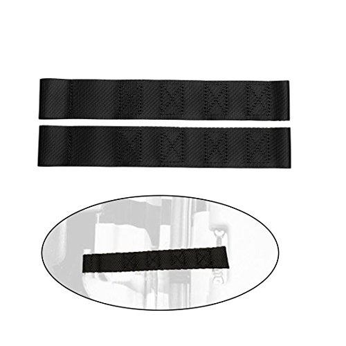 - Yi Gao Parts Perfect Replacement Heavy Duty Thickening Limited Adjustable Door Check Strap fits JEEP WRANGLER Front,Rear,Left,Right Doors Open Accessories Pack of 2