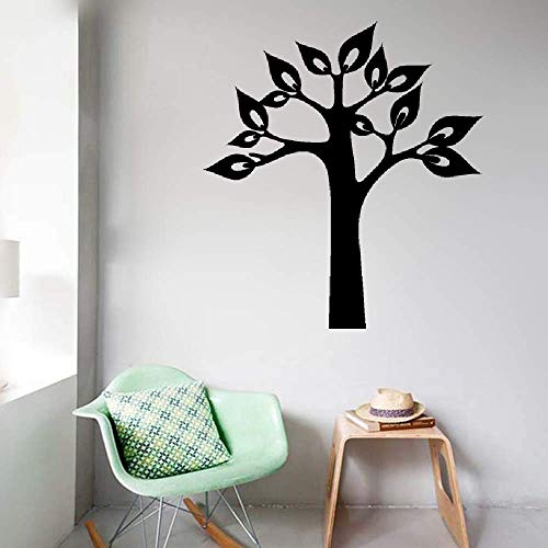 Woauy Removable Vinyl Decal Art Mural Home Decor Wall Stickers French Quote Arbre Avec De Grandes Feuilles Pour Le Salon Tree with Big Leaves for Living Room