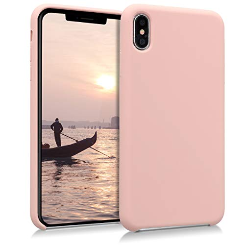 kwmobile TPU Silicone Case for Apple iPhone Xs Max - Soft Flexible Rubber Protective Cover - Antique Pink