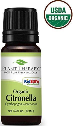 USDA Certified Organic Citronella Essential Oil. 10 ml (1...