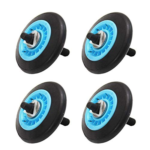 Siwdoy Pack of 4 DC97-16782A Dryer Drum Roller Compatible with Samsung Replace DC97-07523A DC97-07523B AP5325135 ()