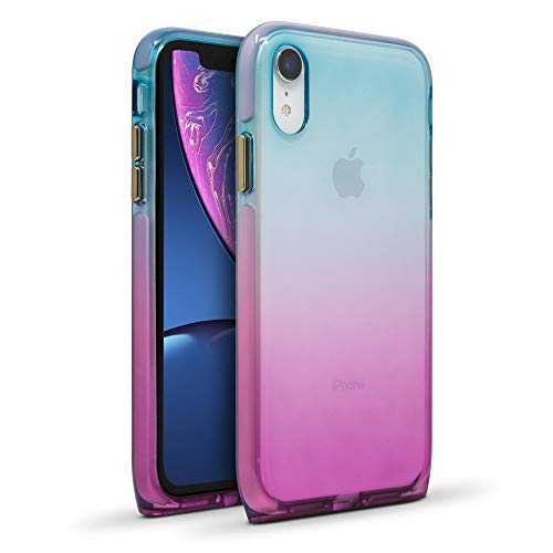 BodyGuardz - Harmony Case for Apple iPhone Xr (Blue/Violet), Extreme Impact and Scratch Protection for iPhone Xr (Unicorn)