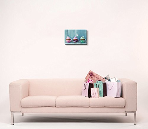 Three Colorful Cupcakes Icecream Wall Decor