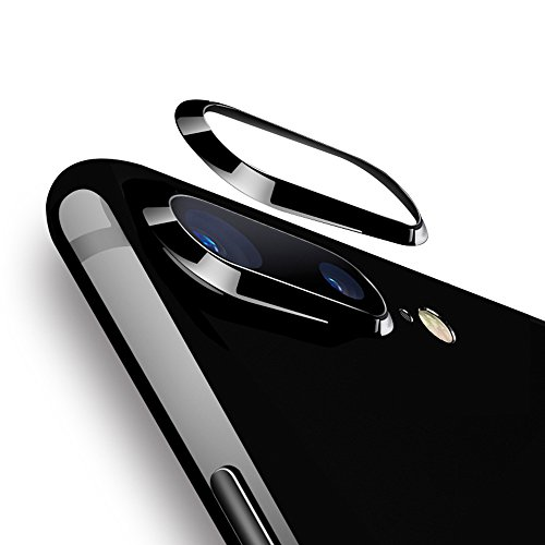 Lens Protection Ring - Aluminum Alloy Rear Camera Lens Metal Protector Guard Circle Cover Ring Lens Protection Ring Apple iPhone 7 Plus 5.5 inches Black
