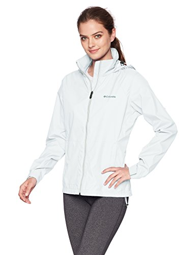 Columbia Women's Switchback III Adjustable Waterproof Rain Jacket, White, Small