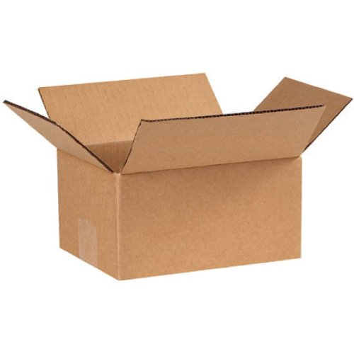 Brown 8' x 6' x 4' Corrugated Shipping Boxes - 25 Pack – Extra Small Perfect for Media Mail