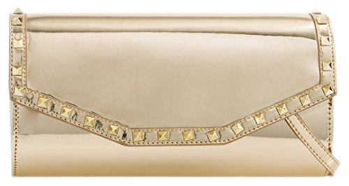 Clutch Girly Trim Handbags Bag Studs Gold ZnpRw